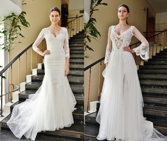 """Ади Атанасова представя модел """"Изабела"""" (вляво) и модел """"Илона"""" (вдясно)."""